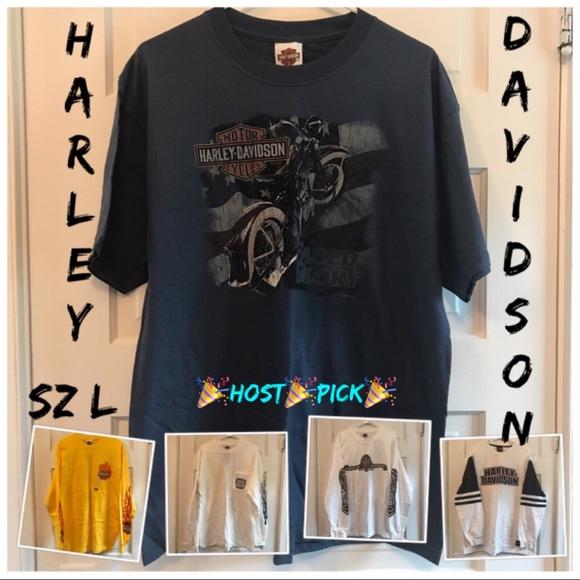 8f61a8a73facb8 🎉HP💫NWT🌼Spring Mens Harley Davidson Shirts👔